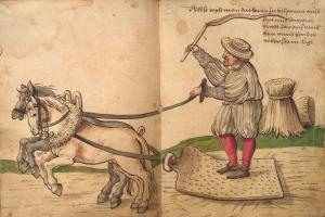 trilla -ilustración del s. XVI-